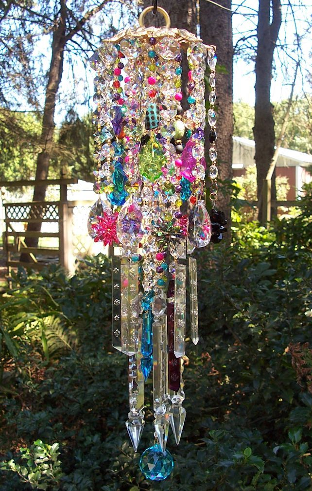 Bohemian Wind Chime To Compliment The Boudoir Lamps
