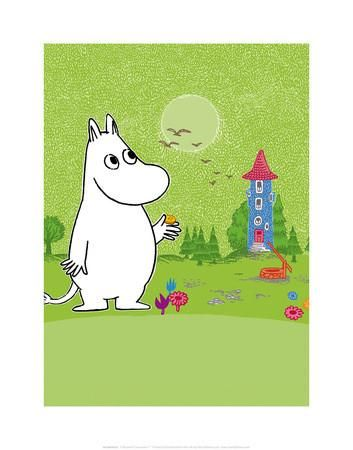 Moomintroll in Moomin Valley Art Print by Tove Jansson at Art.co.uk