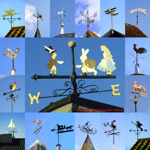 "Weathervanes are one of my favorite subjects… they're photogenic, seen frequently on buildings and not too difficult to frame in the camera at the telephoto end of a zoom lens. Here's a small selection from the UK and France where they are called ""girouettes"".    Images © 2010 Ed Buziak / Alamy"