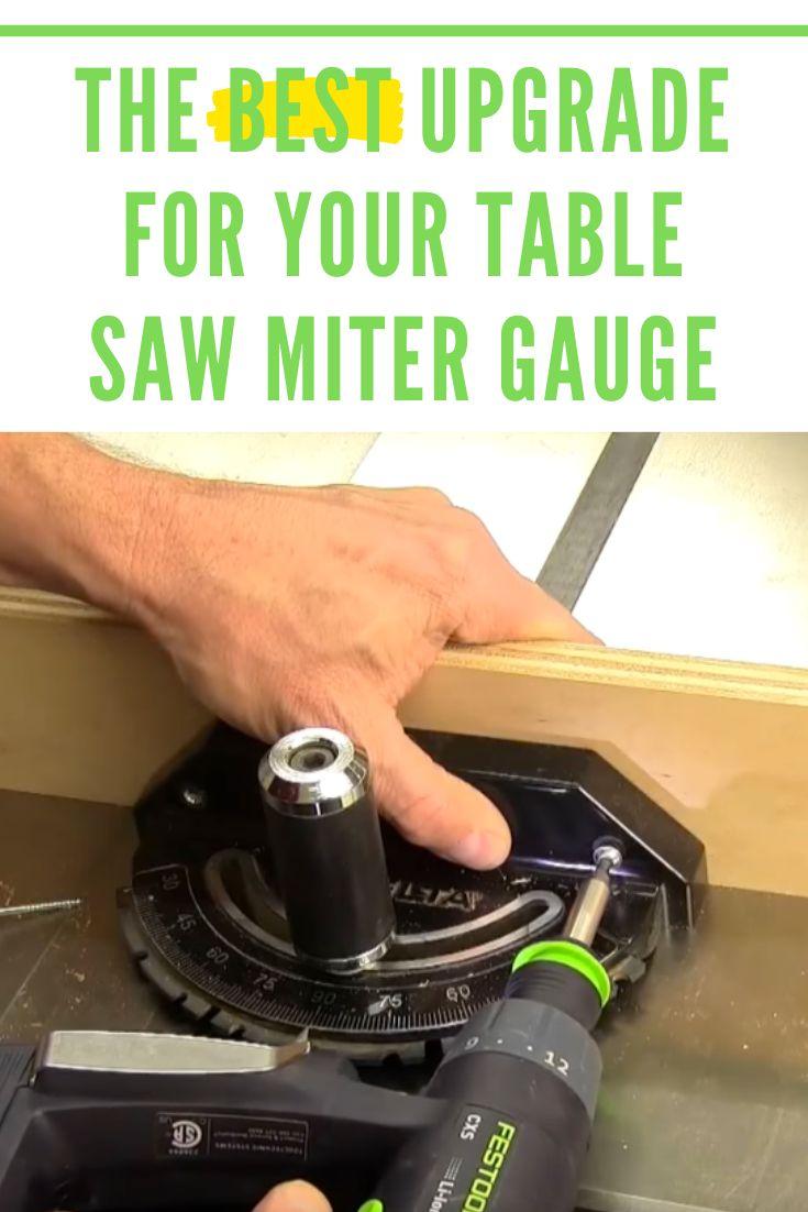 Best Upgrade For Your Table Saw Miter Gauge - Rockler ...