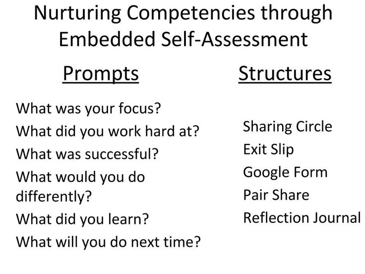 Embedded Self-Assessment