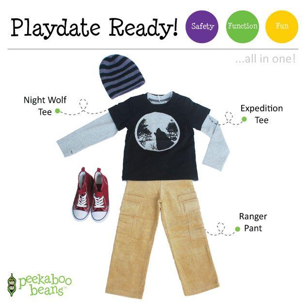 Back-to-school Boy Bean! | Peekaboo Beans - playwear for kids on the grow! | Contact your local Play Stylist or shop On-Vine at www.peekaboobeans.com | #PBPlayfulPairings
