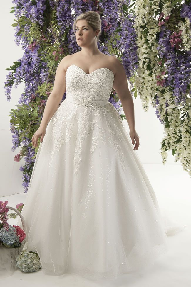 Fancy Curvy brides will love this romantic lace collection from Callista