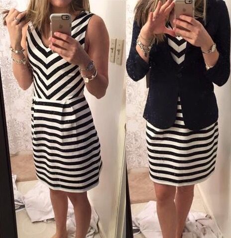 Market & Spruce Isabella Dress...love the cut of this dress and the stripes are cute too!