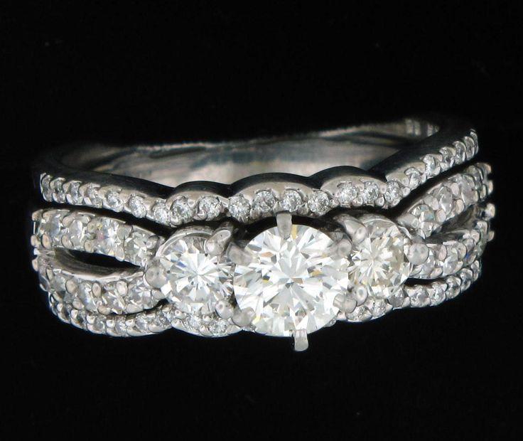 14K White Gold Engagement Ring  PIN6*