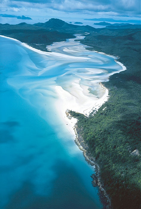 Whitehaven Beach, Australia. The purest sand in the world purchased by the USA to make the Hubble Telescope.