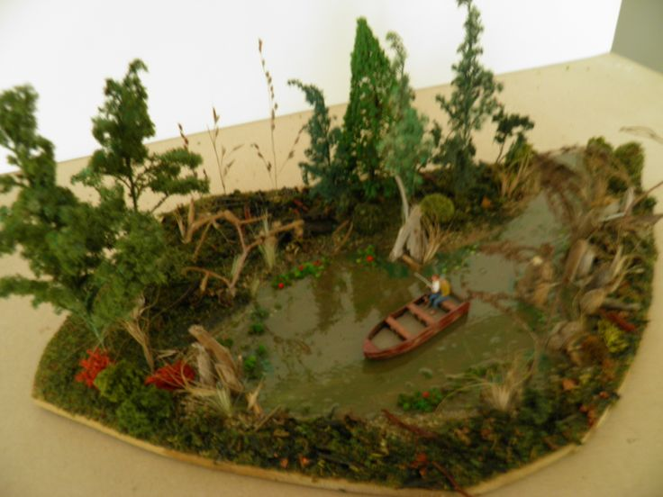 custom build diorama the swamp modelling by - Halloween Diorama Ideas
