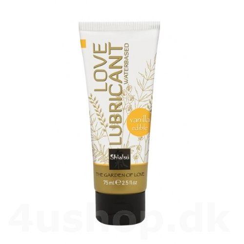 Shiatsu Love Lubricant Vanilla - 75 ml - spiselig glidecreme med vanilje smag