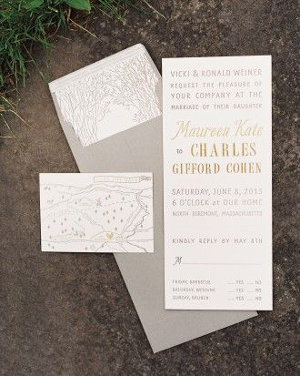 The Stationery Suite - Maureen And Charles's Rustic Wedding In The Berkshires