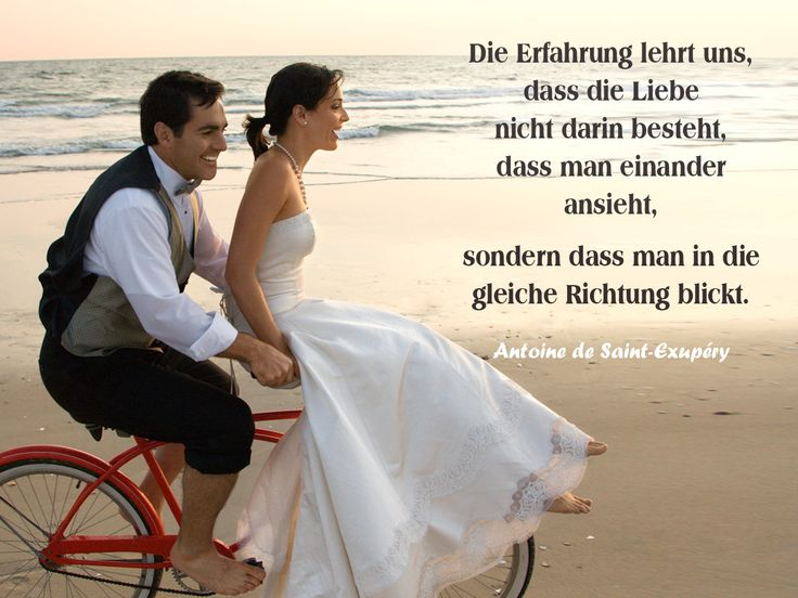 Gemeinsam in die gleiche Richtung blicken und mit Liebe ...