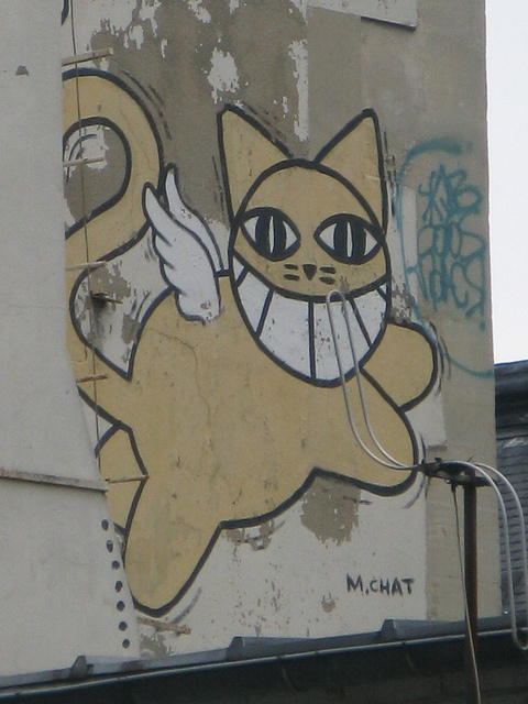 Mr. Chat #Graffiti...totally saw mr. chat in france and took his picture way back when!