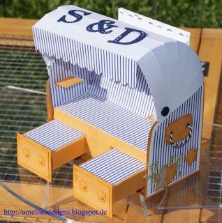 Strandkorb / Beach Chair zur Silberhochzeit