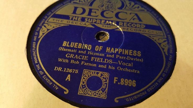 GRACIE FIELDS BLUEBIRD OF HAPPINESS & BUTTONS AND BOWS DECCA F8996  | eBay