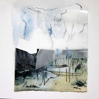 From blog: Snippets: Indigo Scapes - collaboration with Yuko Kimura collage and print