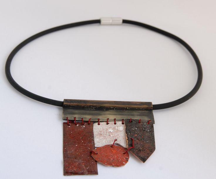 """Human's connections"",bronze,pigments"