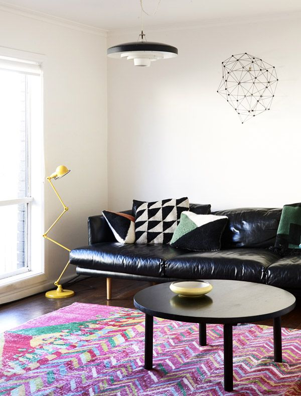 The Melbourne Home Of Suzy Tuxen And Shane Loorham Photos By Eve Wilson Production Colorful RugsLiving Room