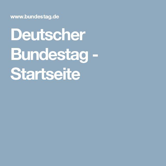 Deutscher Bundestag - Startseite