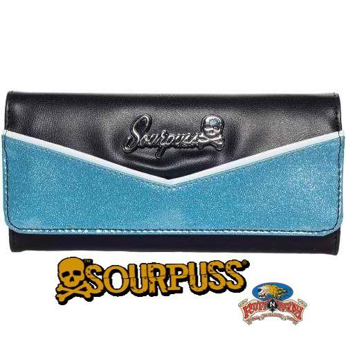Blue/Black Monroe Wallet by Sourpuss #MonroeWallet #Monroe #Wallet #Sourpuss #RuffnReadyAus