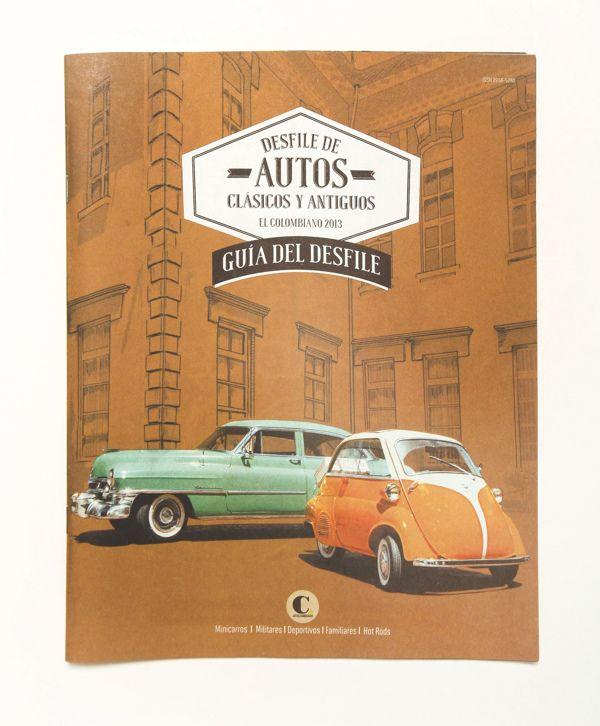 Guía de autos clásicos y antiguos, El Colombiano 2013 by Braulia Diaz, via Behance