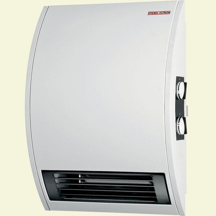 CKT 20E Wall-Mounted Electric Fan Heater with Timer, Alpine White