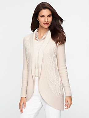 Talbots - Cable Shawl-Collar Cardigan | New Arrivals |