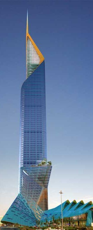 Fawaz Alhokair Tower, former Alrriyadh Tower, Riyadh, Saudi Arabia designed by Echo Architecture :: height 354m :: proposal