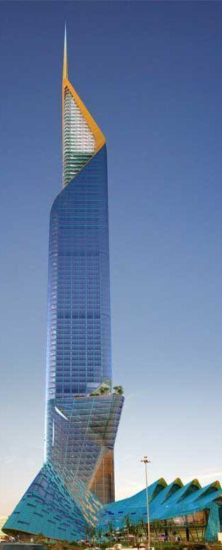 Fawaz Al Hokair Torre, Riyadh, Arabia Saudita diseñado por Arquitectura Echo. Altura 354m. Propuesta.