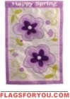 Happy Spring applique Garden Flag - 12 left