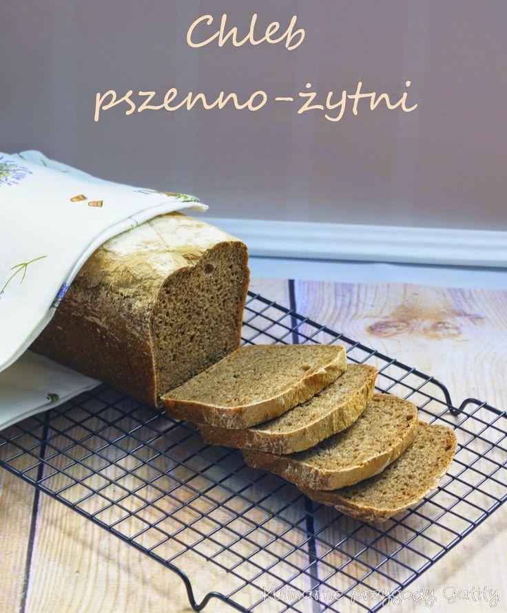 Kulinarne przygody Gatity: Chleb pszenno-żytni z prażoną mąką