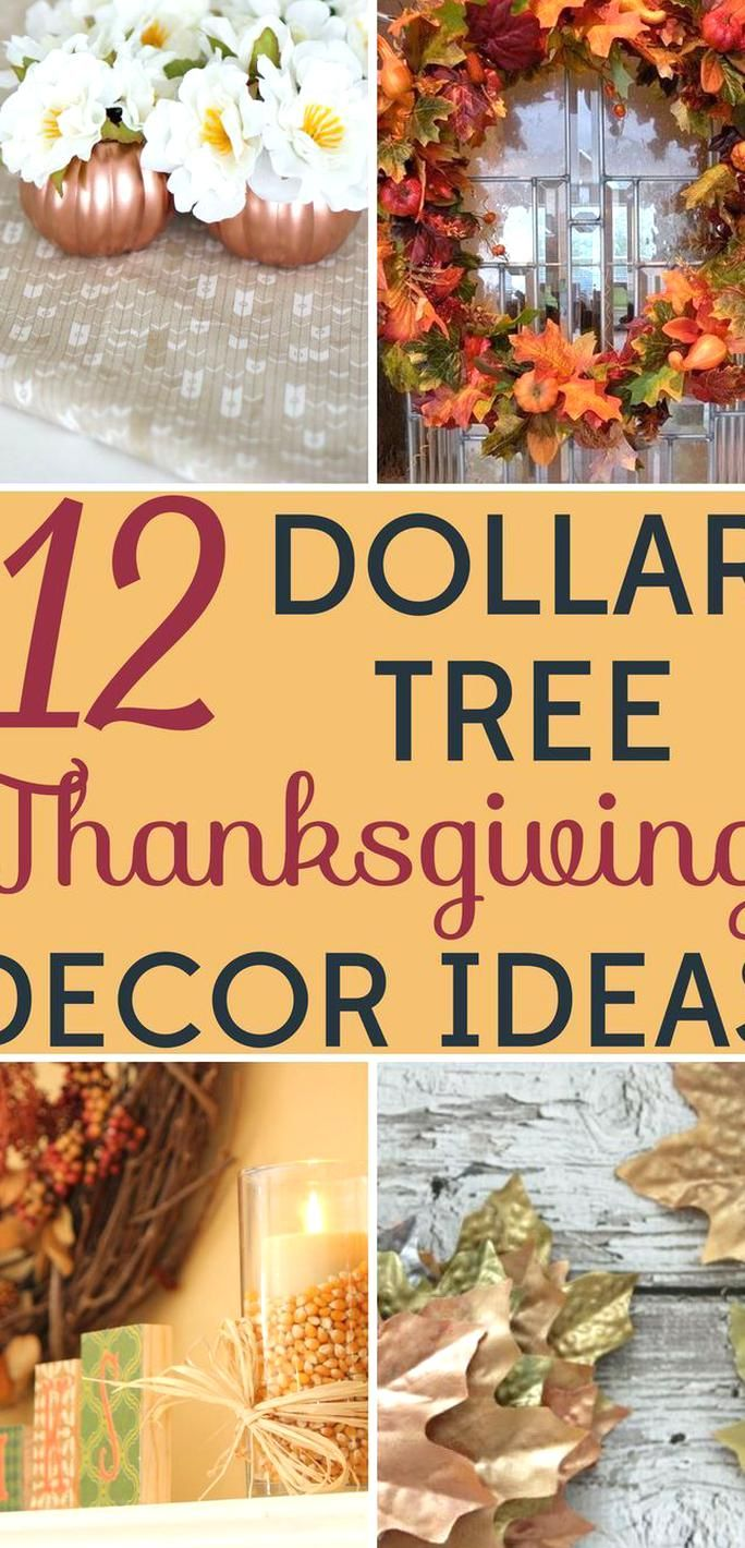 Thanksgiving Decorations Shouldnt Break The Bank These Dollar Tree Thanksgi In 2020 Thanksgiving Decorations Diy Table Thanksgiving Decorations Decorating On A Budget