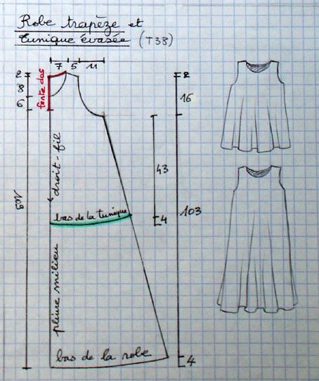 trapese dress pattern - lots of patterns on this site