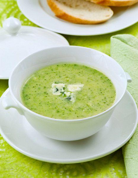 Σούπα με μπρόκολο και σπανάκι