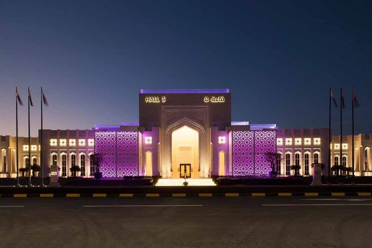 AL RUFAA CELEBRATION HALL COMPLEX | Sans Souci made exclusive light fixtures of Czech glass for five ceremonial halls, six vestibules, a social room and all the corridors.