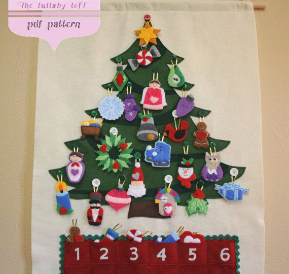 Christmas Tree Advent Calendar • 29 Ornaments • PATTERN • Instant Digital…