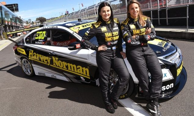 "When Swiss ace Simona de Silvestro and co-driver Australian Renee Gracie competed in the Bathurst 1000 ""Great Race"" last year as a rare all-female duo, they were labelled ""pussy wagon"" by a male competitor."