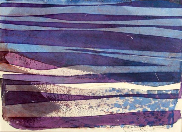 "Paul Chidlaw (1900-1989), ""Gentle Sea"", Original monoprint"