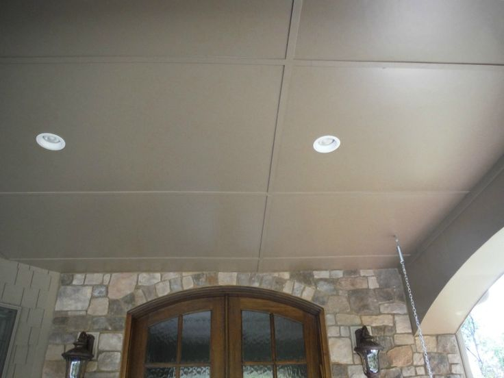 Hardie Smooth Panel Khaki Brown Porch Ceilings