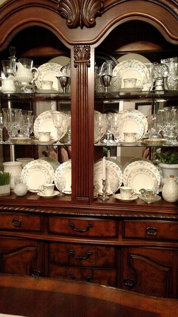 How to style a china cabinet!