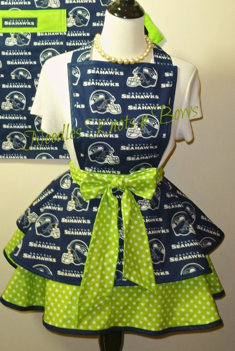 Seattle Seahawks Womens Apron, Seahawks Flirty, Hostess Apron, Football, Gifts for Women sold by Needles Knots n Bows. Shop more products from Needles Knots n Bows on Storenvy, the home of independent small businesses all over the world.