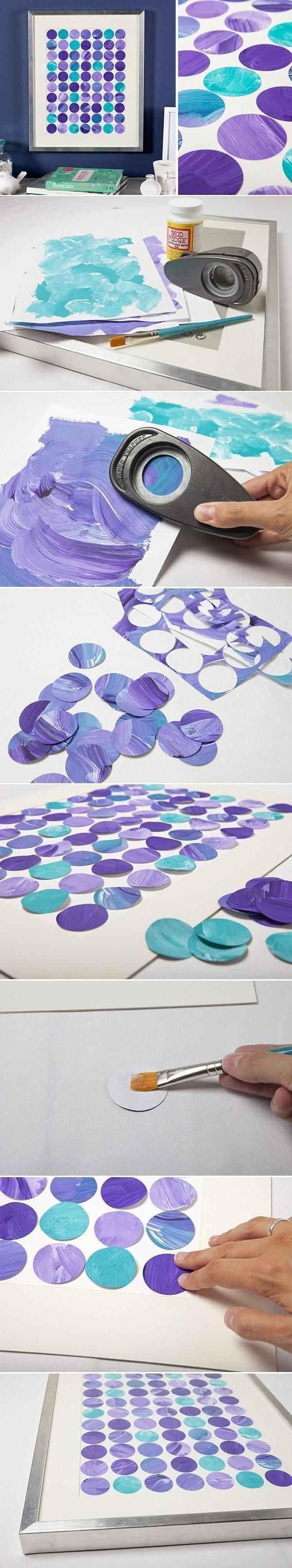 diy wall art made of circles that will make your walls pop!