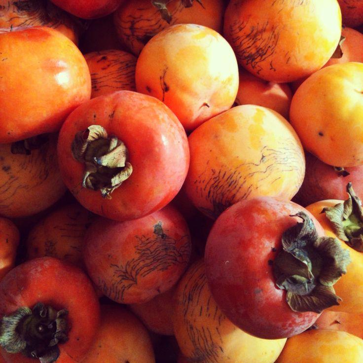 Frutto di stagione, autunno, cachi arancioni