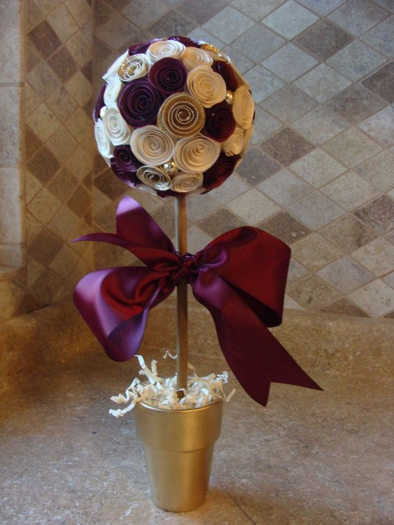Hey, I found this really awesome Etsy listing at https://www.etsy.com/listing/179888612/maroon-cream-and-gold-paper-rose-flower