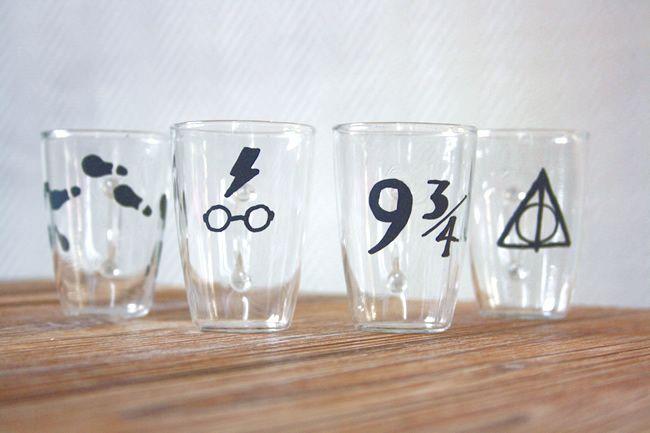 DIY des objets en verre personnalisés au marqueur peinture
