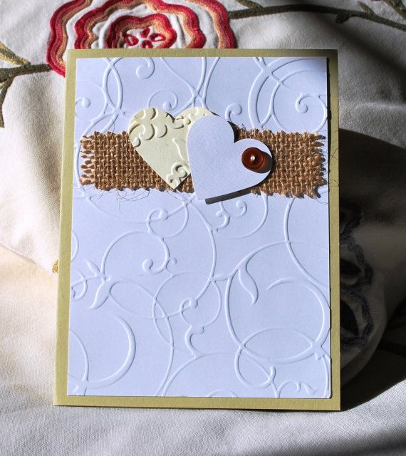 Handmade Card. Valentines Birthday Anniversary by WallridgeFarm