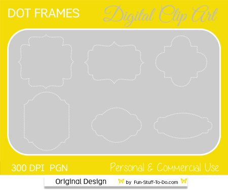 digital dot frames and labels png
