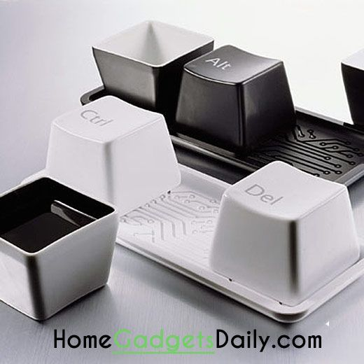 Keyboard Ctrl Alt Del Cup Set #creative #keyboard #mugs #set #cups #coffee #fancy
