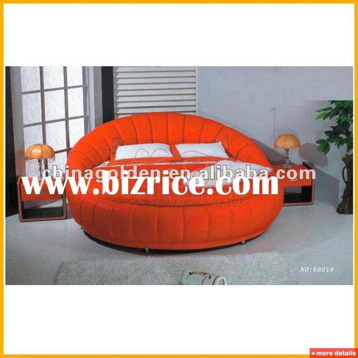 Round Shaped Mattresses Leather King Size Bed Round