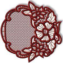 Cutwork Lace Flower Wreath
