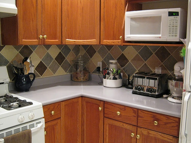 tile looking backsplash on a budget kitchen ideas