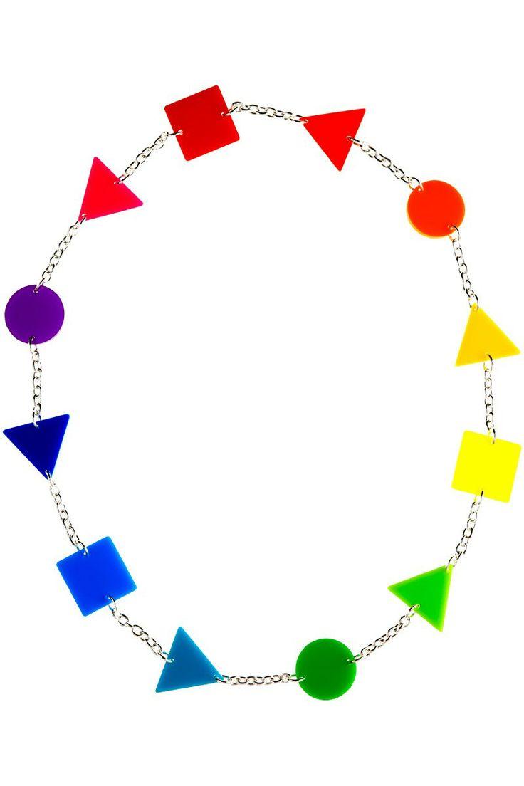 Tatty Devine & Tate Colour Theory Chain NecklaceColors Theory, Theory Chains, Tatty Devin, Shops, Colors Wheels, Tate Colours, Colours Theory, Chains Necklaces, Colors Necklaces